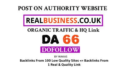 Publish guest post on RealBusiness.co.uk DA 66 Dofollow Link