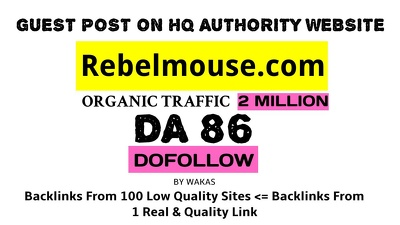 Publish a guest post on Rebel mouse DA 86 Dofollow link