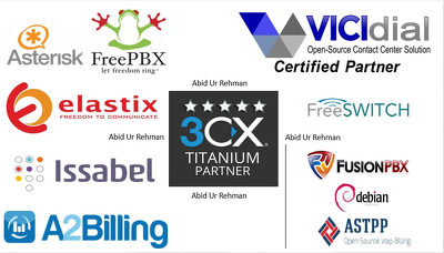 Setup Asterisk Voip, 3cx Elastix, Freepbx Vicidial A2billing