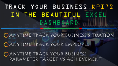Make A dashboard in excel to track KPI's