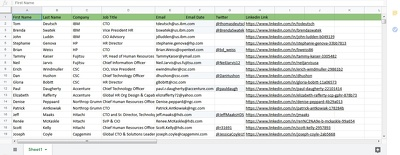 60 leads with Name, Title, email, copmnay Name...etc