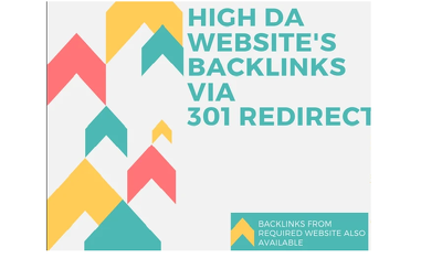 Provide High Da Top Sites Backlinks Via 301 Redirect