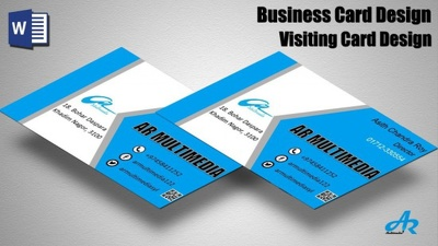 Create Attractive Visiting Card For Your Business