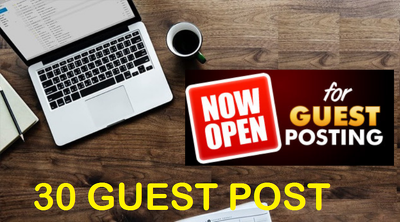 30 unique guest blog posts on HIGH DA50 - DA94 websites