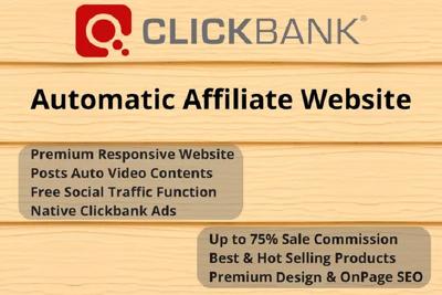 Create 100 Clickbank Affiliate Website For Passive Earnings