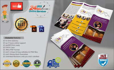 Design your flyer, leaflet, poster, advertisement in 1 day