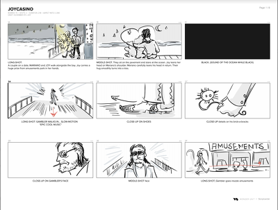 Make you a storyboard for £10 per page