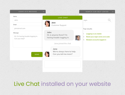 Live chat installation & customisation - Drift, Zendesk, etc.
