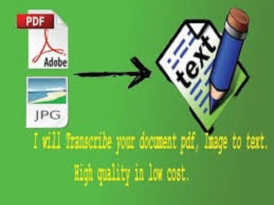 Convert jpg or pdf to word excel or any other document