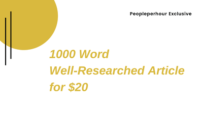 Write 1000 word well researched website content or article