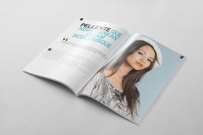 Design a magazine mock up
