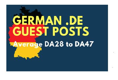 Publish High Quality German Dofollow Guestpost Backlinks