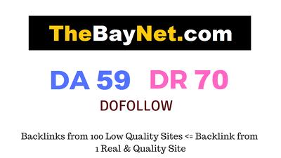 Publish Guest Post on Thebaynet.com DA 59 DR 70