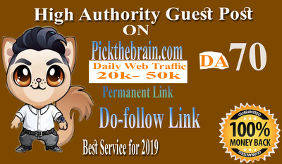 Provide High Authority Guest Post On Pickthebrain DA 70 Dofollow