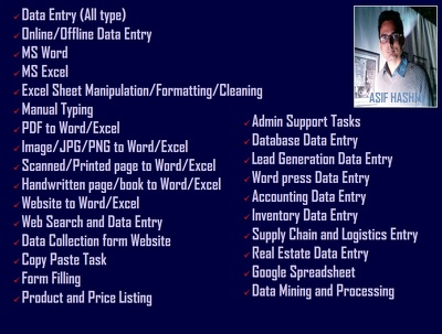 Do 4 hours data entry work for £10