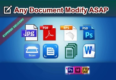 Convert pdf, jpg, png, scanned files to MS Word or Excel in1 day