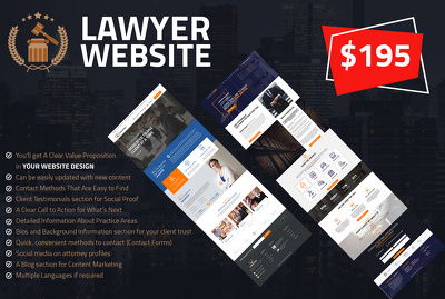 Make awesome lawyer website
