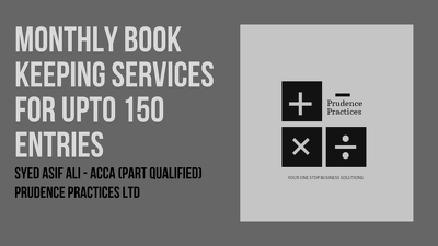 Manage your monthly Book Keeping Services (150 entries)