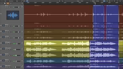 Mix your recorded files into a well-polished musical track!