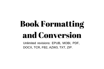 Format and convert any manuscript or book