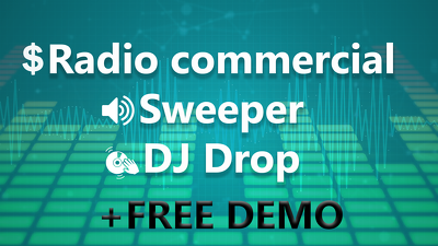 Produce radio commercial, jingle, song intro or dj drop