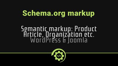 Semantic markup. Schema.org RDFa, Microdata or JSON-LD
