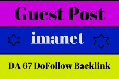Guest Post with dofollow backlink on Imanet DA 67