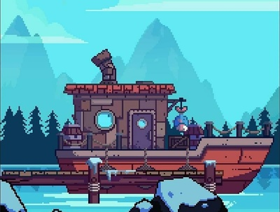 Create a pixel art character or background for your game