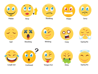 Draw emoticons, emoji, sticker and animated gif for you