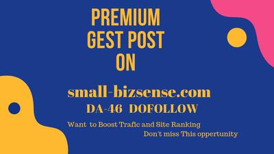 Publish a guest post on small-bizsense.com – DA 46 .