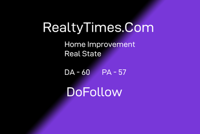 Guest post on realtytimes.com RealEstate Good Site