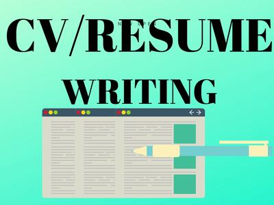 Do  expert  resume/CV   writing  FOR YOU