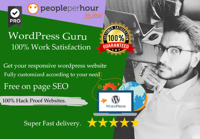 Design & develop fast loading, SEO friendly WordPress website