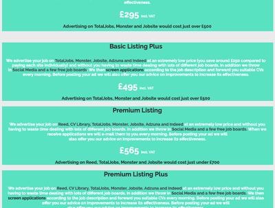 Give maximum exposure job listing at unbeatable prices