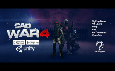 Provide CAD-4 War Unity 3D Template + Editor New Release