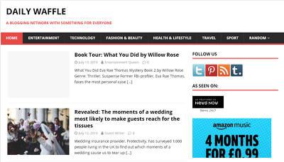 Publish Dofollow guest on site Dailywaffle.co.uk- DA42