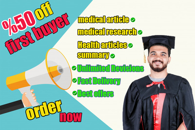 Writ medical article or research 500 word as a doctor