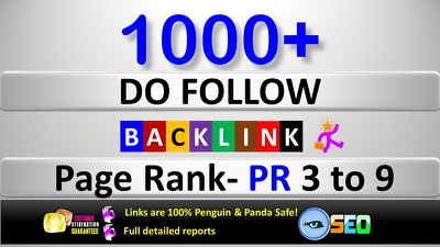 Create 1000+ Do-Follow PR 3 to 9 Backlinks