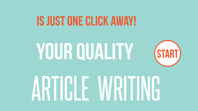 Write A 500 Words Blog, Article Or Website Content