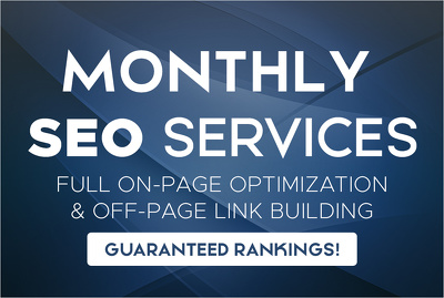 Provide Monthly SEO Services to Rank Your Website Higher