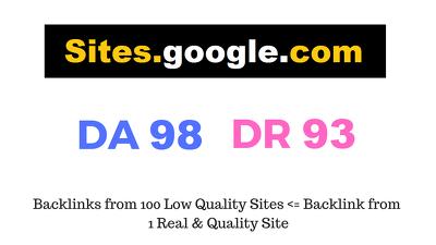 Guest Post on Sites.google.com DA98 DR93