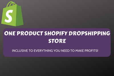 Build a one-product shopify dropshipping store for you