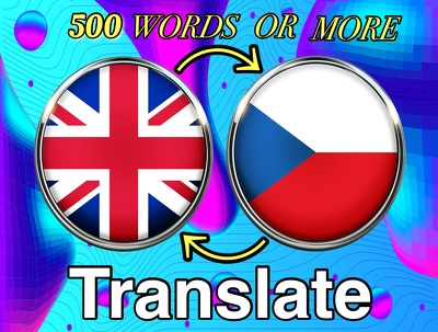 Translate 500 words from English to Czech or vice versa
