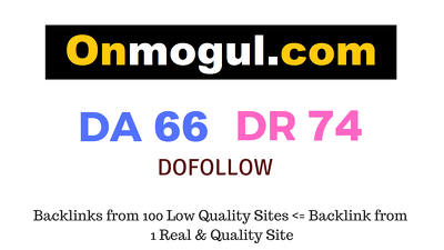 Guest Post on Onmogul.com DA66 DR74