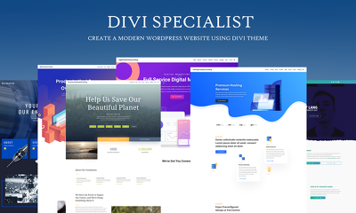 Modern wordpress website using Divi Theme