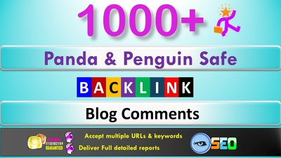 Do 1,000 Panda & Penguin Safe Backlinks Blog Comments