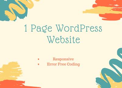 Create one-page WordPress website