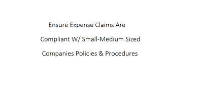Review Expense Claims Against Company Policies & Procedures