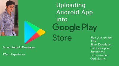 Upload your android app on your google play account