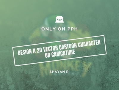 Design a 2D vector cartoon character or caricature